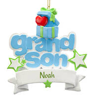 Personalized Grandson Ornament