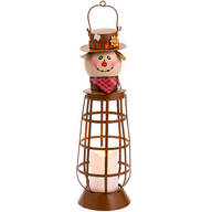 Lighted Metal Scarecrow Lantern