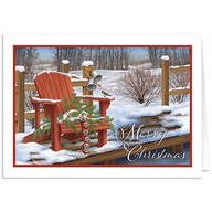 Personalized Adirondak Chair Christmas Card Set of 20