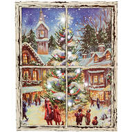 Christmastime Lighted Canvas by Holiday Peak™