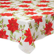 Poinsettia Vinyl Table Cover