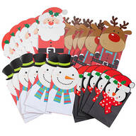 Holiday Die Cut Gift Sacks