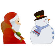 Backseat Santa & Snowman Car Window Stickers