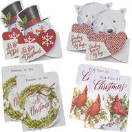 Christmas Die Cut Money Card Holders, Set of 8