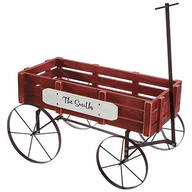 Personalized Red Wagon Planter