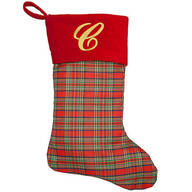 Personalized Plaid Stocking by Holiday Peak™