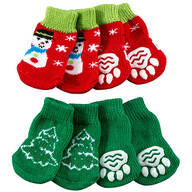 Christmas Dog Socks, Set of 2