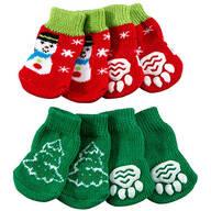 Christmas Dog Socks, Set of 2