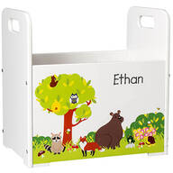 Personalized Woodland Animals Book Caddy