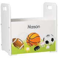 Personalized Sports-Themed Book Caddy
