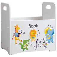 Personalized Musical Animals Book Caddy