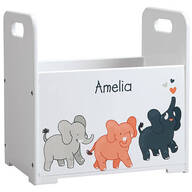 Personalized Elephants Books Caddy