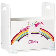 Personalized Unicorn Books Caddy