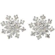 CZ Snowflake Post Earrings