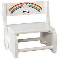 Personalized Children's Unicorn Step Stool