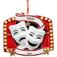 Personalized Theater Mask Ornament