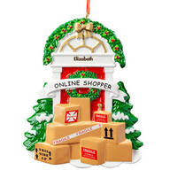 Personalized Online Shopper Ornament