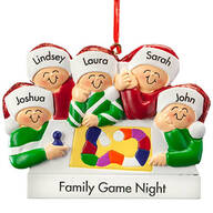 Personalized Board Game Family Ornament