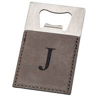 Personalized Gray Bottle Opener