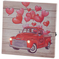 Mini Red Truck Valentine Canvas