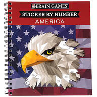 Brain Games® Sticker-by-Number America