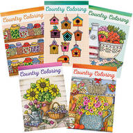 Country Charm Coloring Books Set of 5