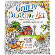 Country Coloring Art Book