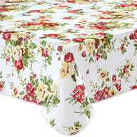 Country Rose Vinyl Table Cover by Chef's Pride