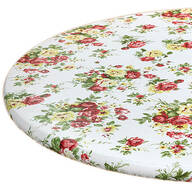 Country Rose Elasticized Vinyl Tablecover by Chef's Pride