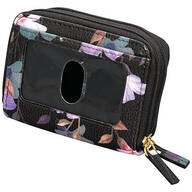 Buxton® RFID Black Floral Accordion Wallet