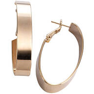 Polished Oval Hoop Hinged Earrings