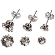 Crystal Colors Swarovski Prong Earring Set of 3
