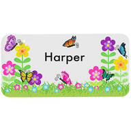 "Personalized Flowers License Plate, 3"" x 6"""