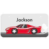 "Personalized Racecar License Plate, 3"" x 6"""