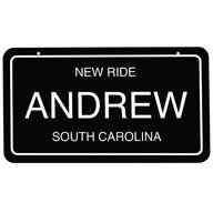 "Personalized Novelty License Plate, 4"" x 7"""