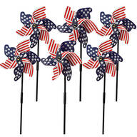 Patriotic Lawn Pinwheels, Set of 6