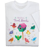 Personalized Grandma's Tweet Hearts T-Shirt