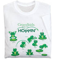Personalized Grandkids Keep Me Hoppin' T-Shirt