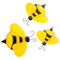 Metal Bumblebee Hangers, Set of 3