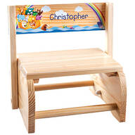 Personalized Natural Noah's Ark Step Stool