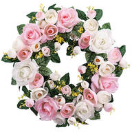Vintage Rose Wreath
