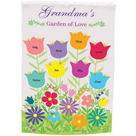 Personalized Garden of Love Garden Flag