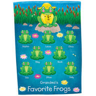 Personalized Frog Garden Flag