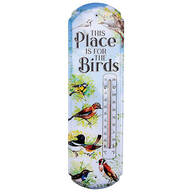 This Place is for the Birds Metal Thermometer