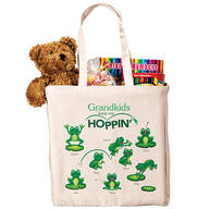 Personalized Grandkids Keep Me Hoppin' Tote