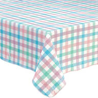 Spring Breeze Checked Vinyl Tablecovers