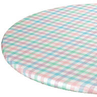 Spring Breeze Checked Vinyl Elasticized Tablecovers