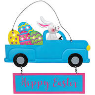 Happy Easter Lighted Bunny Door Hanger by Holiday Peak™