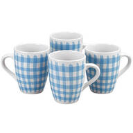 Blue Shirt Mugs by William Roberts, Set of 4