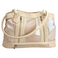 Five Pocket Cream Patch Leather Shoulder Bag